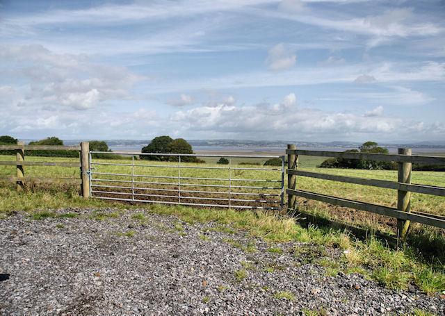 Farm Gate near Weobley Castle