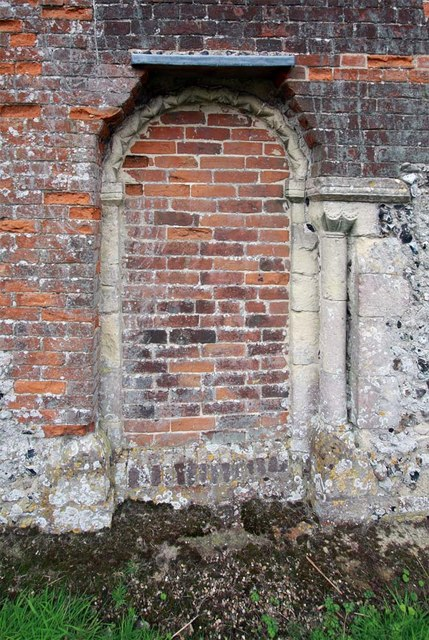 St Gregory's Church, Heckingham, Norfolk - Blocked doorway