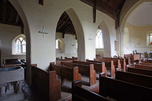 St Gregory's Church, Heckingham, Norfolk - North arcade