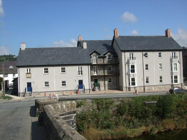 New buildings in Llanrwst
