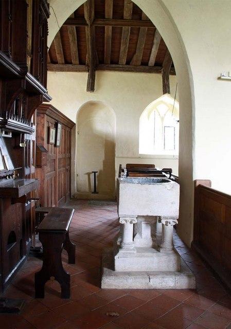 St Gregory's Church, Heckingham, Norfolk - Font