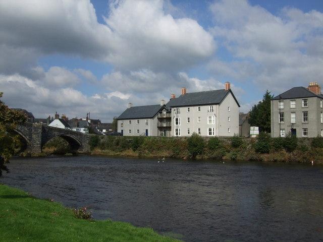 Buildings in Llanrwst aside Pont Fawr