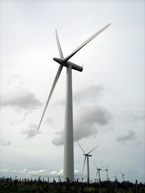 Wind Turbines from near Bryn Gwynt
