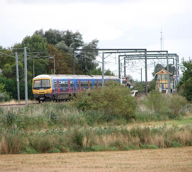Train approaching Littleport Station