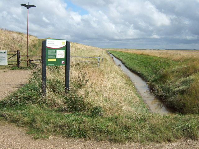 Entrance to The Wash nature reserve