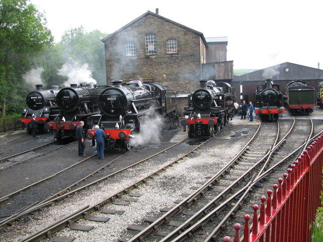 Busy day at Haworth Engine Shed