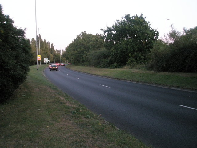 Looking eastwards along Western Road on a September evening