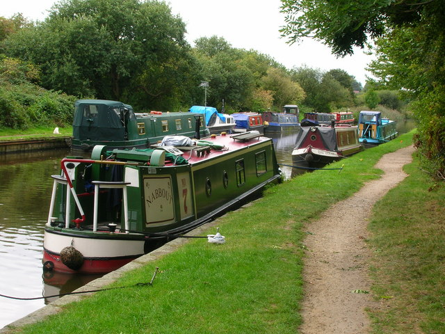 Canal boats at Parbold