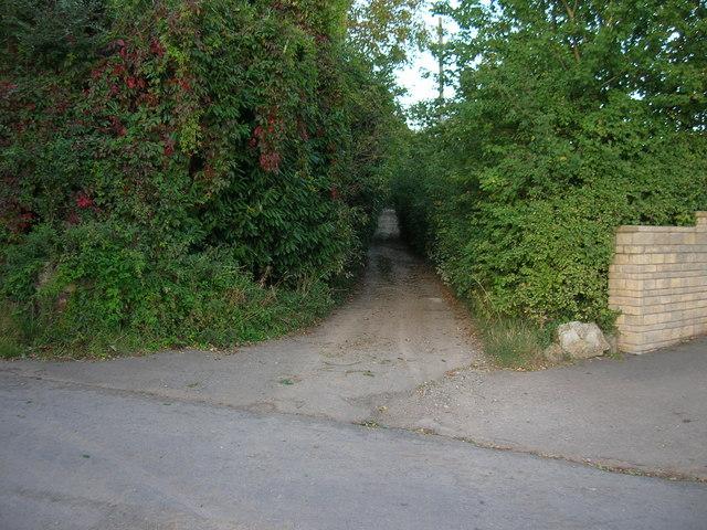 Junction of Ringspit Lane BOAT and Blackrock Lane