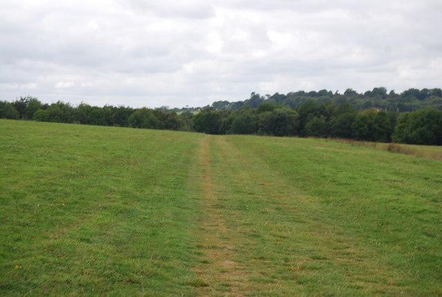 Tunbridge Wells Circular Path  crosses a field south of Eridge Lake