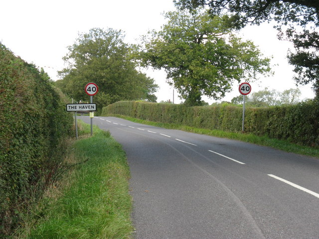 Speed restriction on road at the Haven