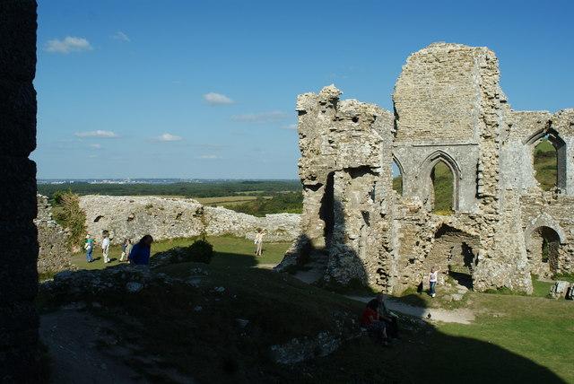Corfe Castle Ruins, Dorset