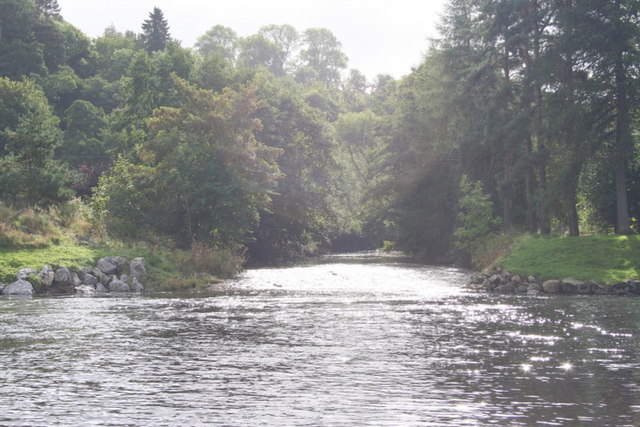 The Fiddich meets the Spey