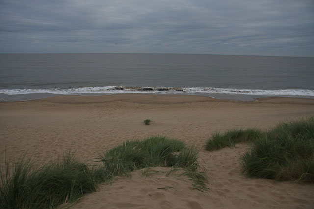High tide at Burnham Overy Dunes