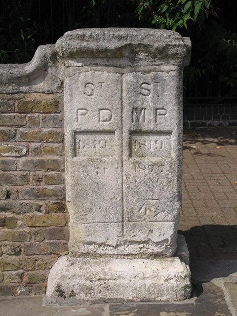 Boundary stone, Deptford Wharf