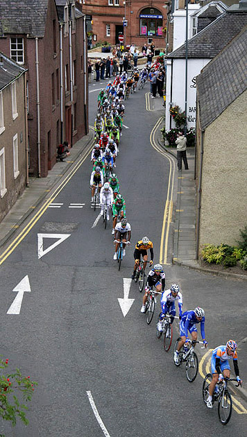 The 2009 Tour of Britain Cycle Race in Melrose