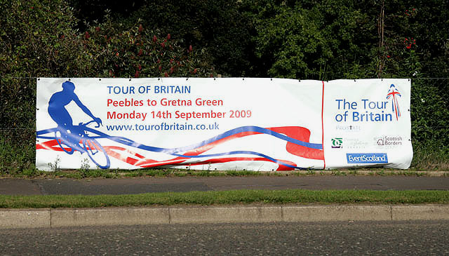 2009 Tour of Britain Cycle Race banner