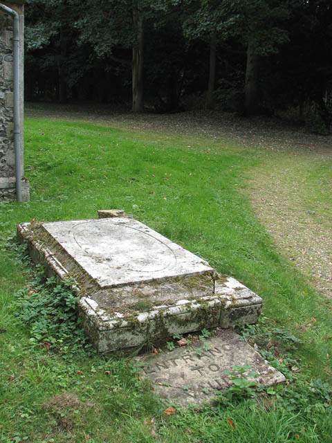 St Michael's church - tomb by the tower