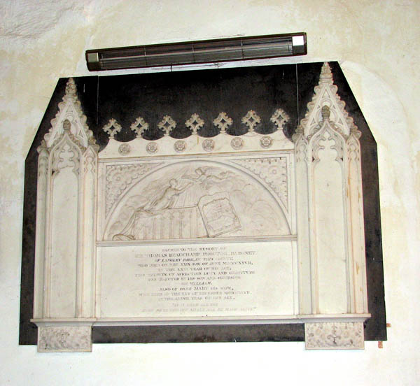 St Michael's church - wall monument