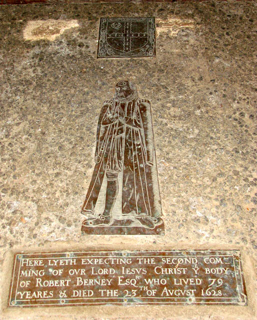 St Michael's church - C17 memorial to Robert Berney