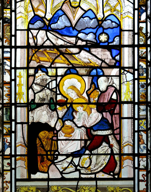 St Michael's church - east window (detail)