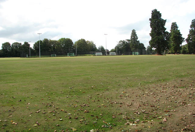 One of the playing fields at Langley School
