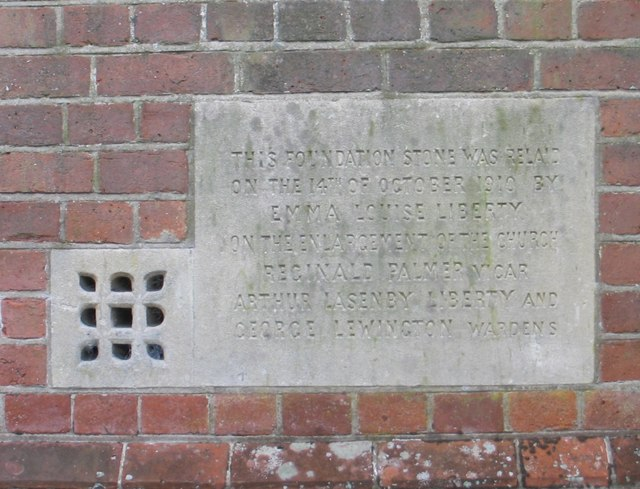 Commemorative Plaque, St. John the Baptist Church, Lee, Buckinghamshire