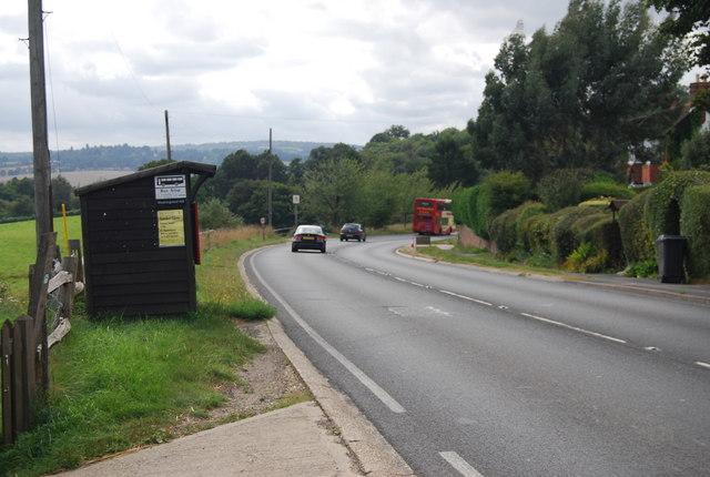Bus stop on the A26, Eridge Green