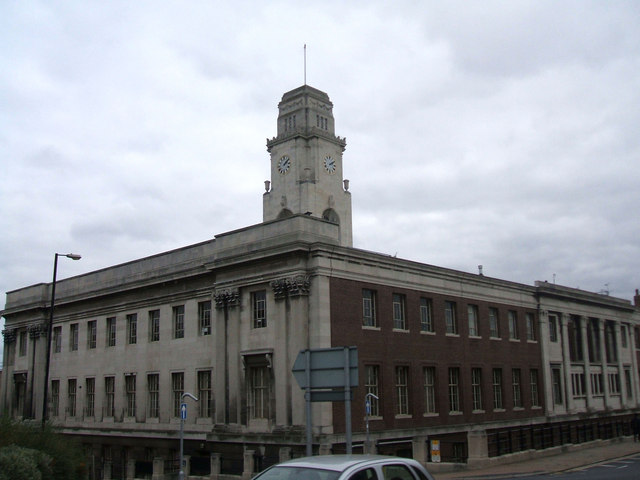 A View of the Rear of Barnsley Town Hall