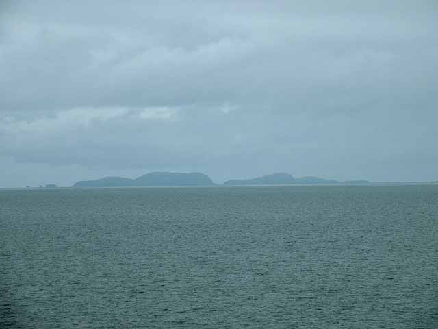 Distant view of the Shiant Islands