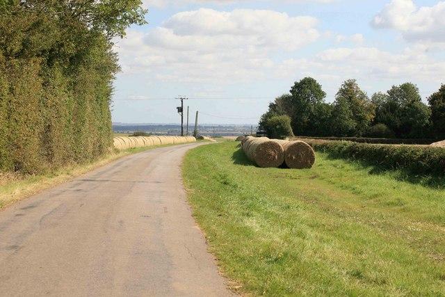 Big bales nr Whinleys Farm