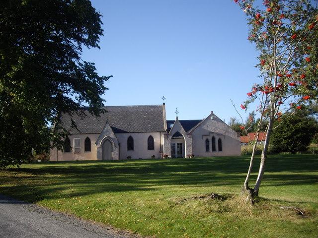 Parish church and Rowan berries