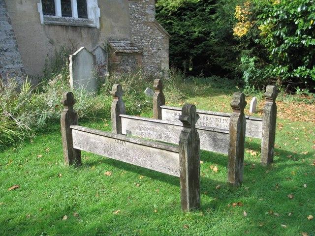 Wooden Grave Markers, Lee, Buckinghamshire