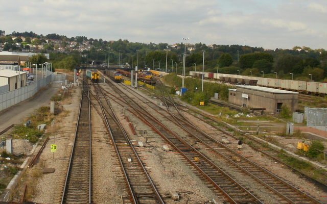 Main line north from Maesglas, Newport