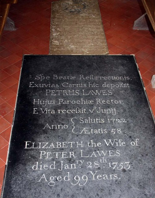 St Margaret, Hales, Norfolk - Ledger slab