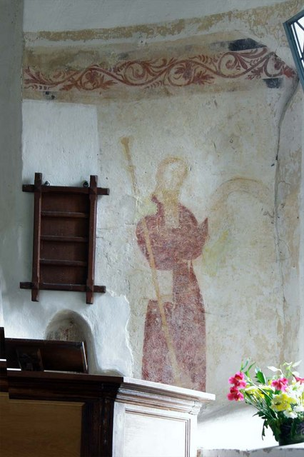 St Margaret, Hales, Norfolk - Wall painting