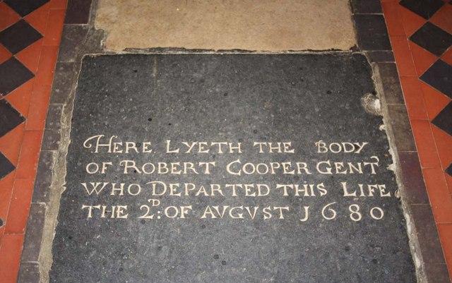 St Andrew, Ravingham, Norfolk - Ledger slab