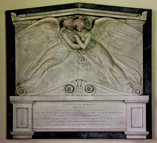 St Mary, Stradsett, Norfolk - Wall monument