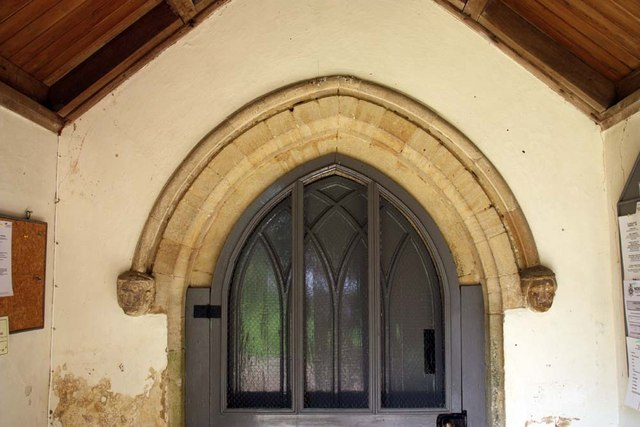 St Mary, Stradsett, Norfolk - Doorway detail