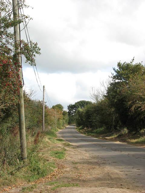 View east along Norton Road