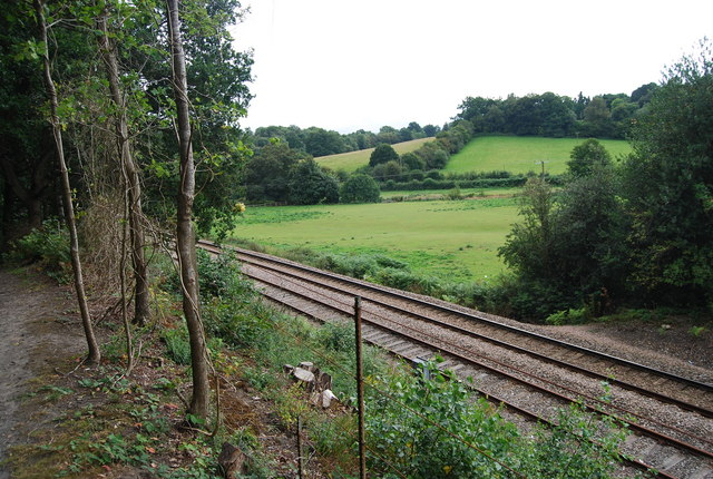 The London to Uckfield line near Birchden Junction