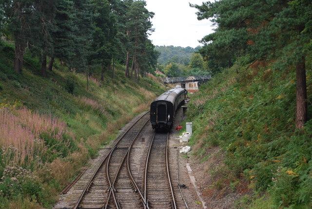 Carriage on the line, Groombridge
