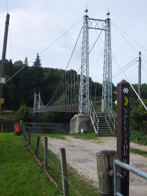 Victoria Steel Suspension Bridge, Aberlour