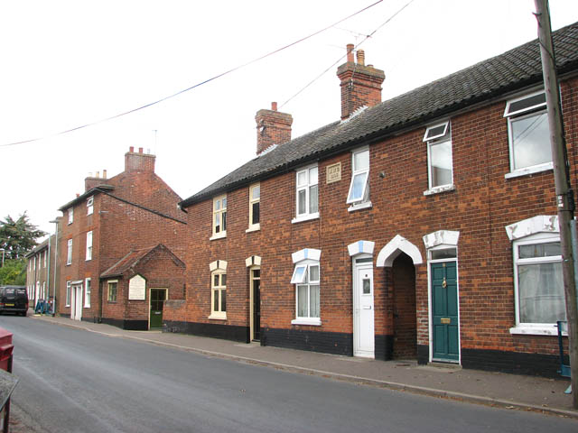 Terraced cottages in Langley Road