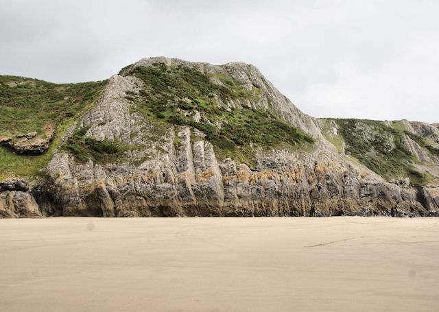 Cliffs, Pobbles Beach