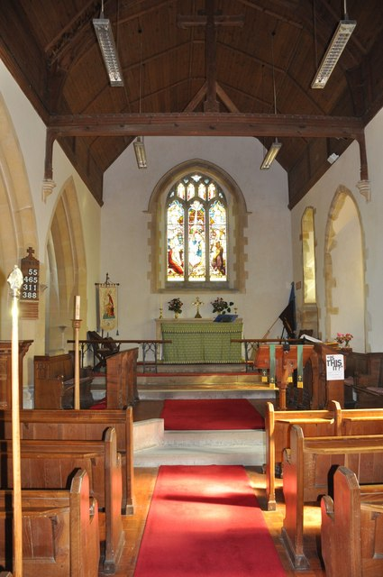 Looking towards the altar in St Margaret, Woodham Mortimer.
