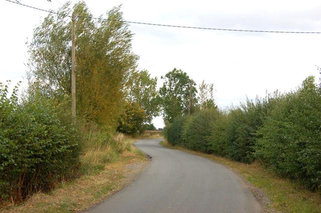 The lane from Hill to Grandborough passing Barn Farm