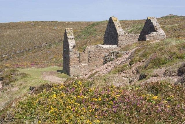 Wheal Coates mine, Cornwall. Calciner