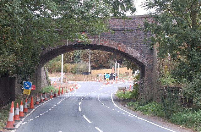 New roundabout under bridge