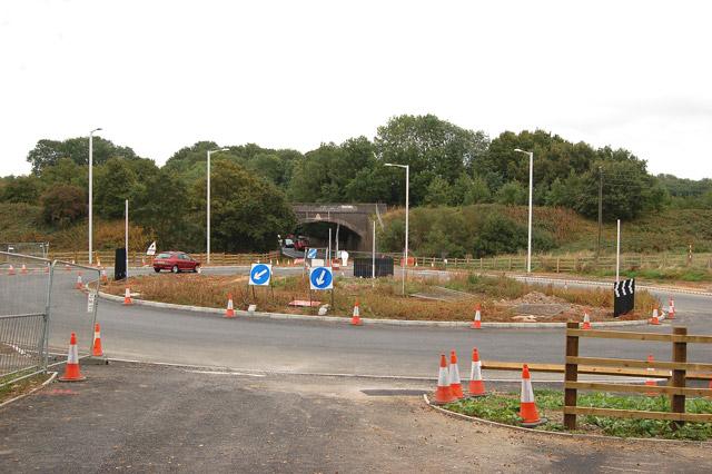 New roundabout near Potford's Dam Farm (1)